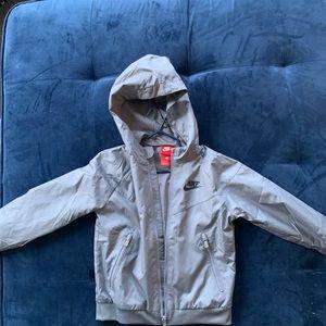 Boys Nike gray rain jacket size 4T New